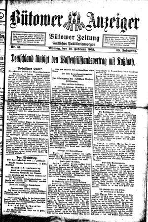 Bütower Anzeiger vom 18.02.1918