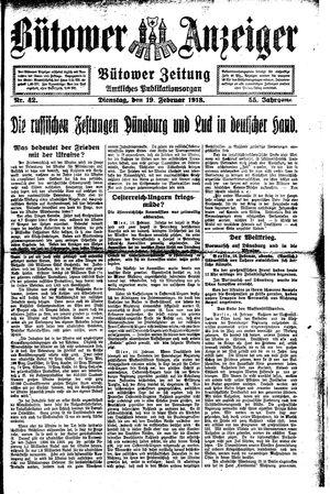 Bütower Anzeiger vom 19.02.1918