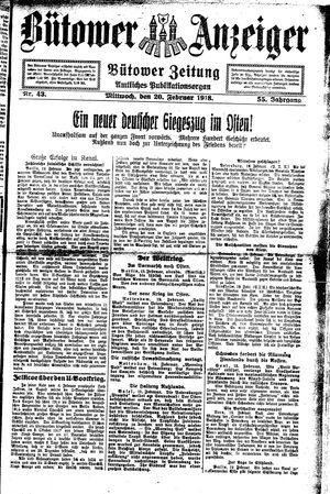 Bütower Anzeiger vom 20.02.1918