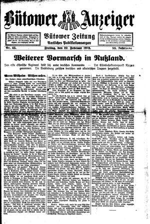 Bütower Anzeiger vom 22.02.1918