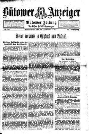 Bütower Anzeiger vom 23.02.1918