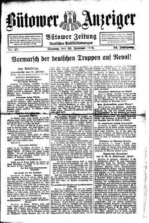 Bütower Anzeiger vom 25.02.1918