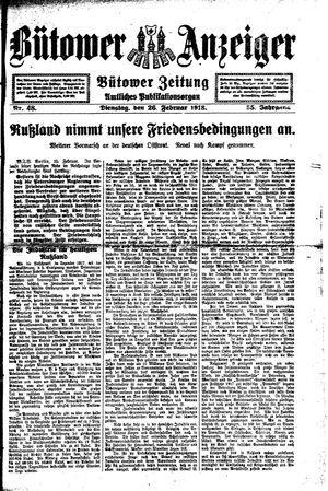 Bütower Anzeiger vom 26.02.1918