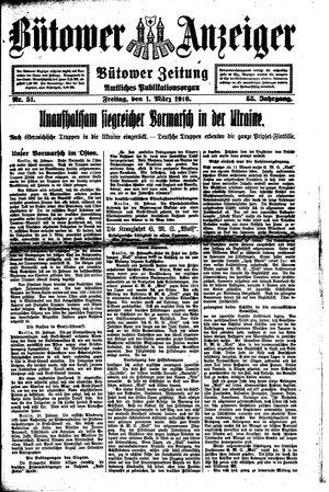 Bütower Anzeiger vom 01.03.1918