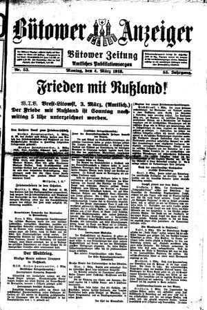 Bütower Anzeiger vom 04.03.1918
