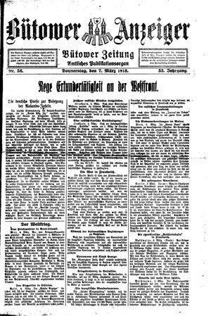 Bütower Anzeiger vom 07.03.1918