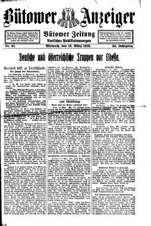 Bütower Anzeiger vom 13.03.1918