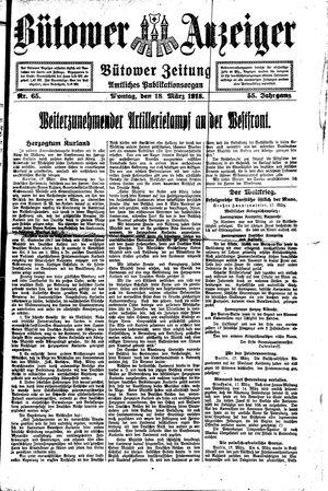 Bütower Anzeiger vom 18.03.1918