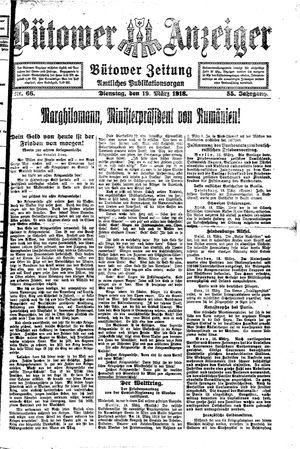 Bütower Anzeiger vom 19.03.1918