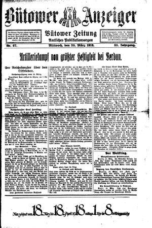 Bütower Anzeiger vom 20.03.1918