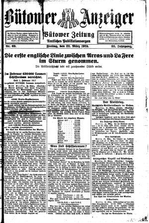 Bütower Anzeiger vom 22.03.1918