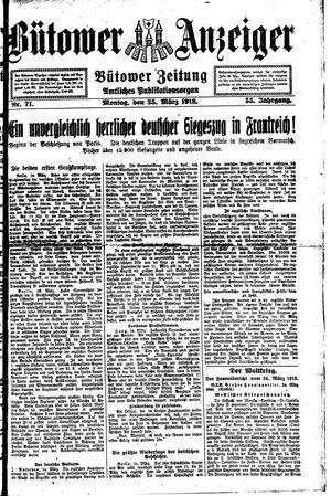 Bütower Anzeiger vom 25.03.1918