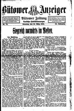 Bütower Anzeiger vom 26.03.1918