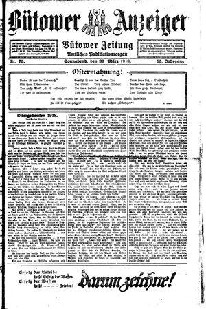 Bütower Anzeiger vom 30.03.1918