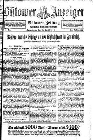 Bütower Anzeiger vom 06.04.1918