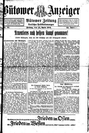 Bütower Anzeiger vom 12.04.1918