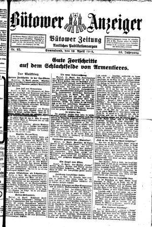 Bütower Anzeiger vom 13.04.1918