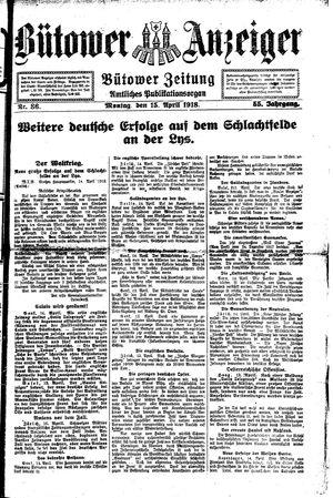 Bütower Anzeiger vom 15.04.1918
