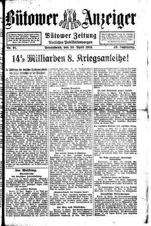 Bütower Anzeiger vom 20.04.1918