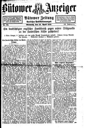 Bütower Anzeiger vom 24.04.1918