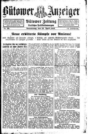 Bütower Anzeiger vom 25.04.1918