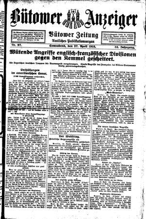Bütower Anzeiger on Apr 27, 1918