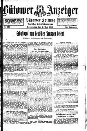 Bütower Anzeiger vom 02.05.1918