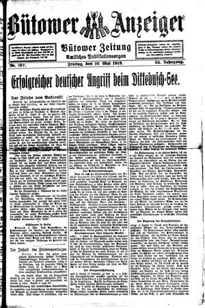 Bütower Anzeiger on May 10, 1918