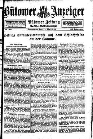 Bütower Anzeiger vom 11.05.1918