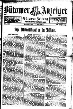 Bütower Anzeiger vom 17.05.1918