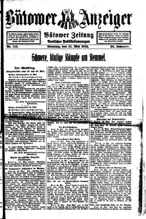 Bütower Anzeiger vom 21.05.1918