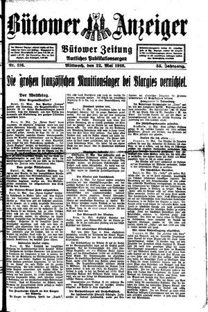 Bütower Anzeiger vom 22.05.1918