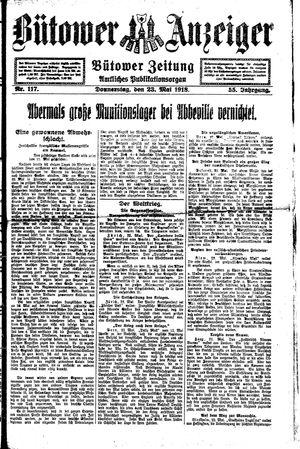 Bütower Anzeiger vom 23.05.1918