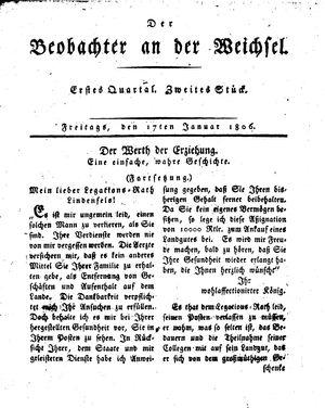 ˜Derœ Beobachter an der Weichsel on Jan 17, 1806
