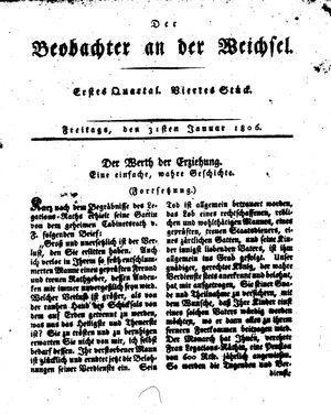 ˜Derœ Beobachter an der Weichsel vom 31.01.1806