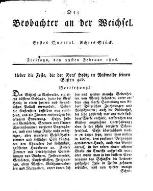 ˜Derœ Beobachter an der Weichsel vom 28.02.1806