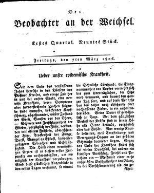 ˜Derœ Beobachter an der Weichsel vom 07.03.1806