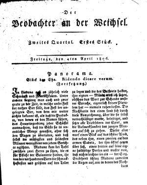 ˜Derœ Beobachter an der Weichsel vom 04.04.1806