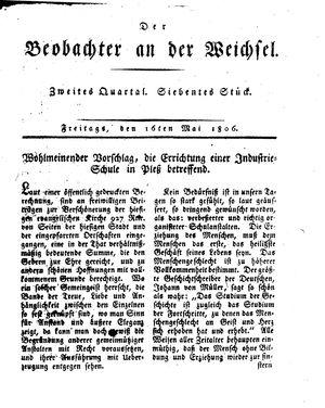 ˜Derœ Beobachter an der Weichsel vom 16.05.1806