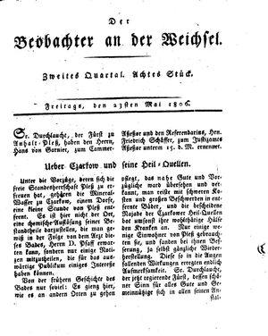 ˜Derœ Beobachter an der Weichsel vom 23.05.1806