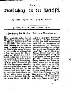 ˜Derœ Beobachter an der Weichsel vom 04.07.1806