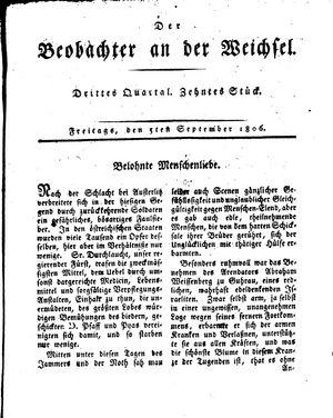 ˜Derœ Beobachter an der Weichsel vom 05.09.1806