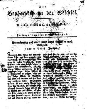 ˜Derœ Beobachter an der Weichsel vom 07.11.1806