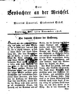 ˜Derœ Beobachter an der Weichsel on Nov 14, 1806