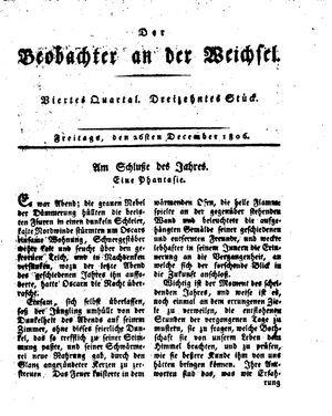 ˜Derœ Beobachter an der Weichsel vom 26.12.1806