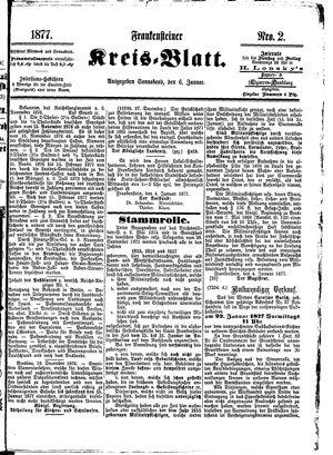 Frankensteiner Kreisblatt vom 06.01.1877