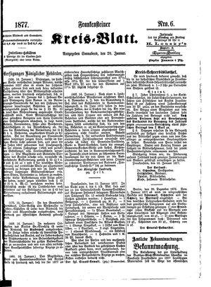 Frankensteiner Kreisblatt vom 20.01.1877