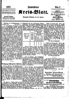 Frankensteiner Kreisblatt vom 24.01.1877