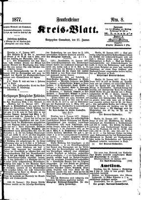 Frankensteiner Kreisblatt on Jan 27, 1877