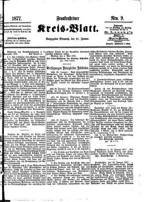 Frankensteiner Kreisblatt vom 31.01.1877